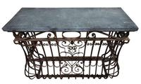 Wrought Iron & Slate Console Tables (2 of 4)