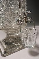 Extremely Rare Late 19th Century Lead Crystal Cut Glass Whiskey Dispenser (5 of 7)