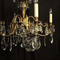 Italian Gilded & Crystal 6 Light Antique Chandelier (2 of 10)