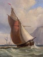 James Edwin Meadows - Attractive Pair of Marine Oil Paintings (4 of 6)