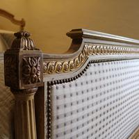 Louis XVI Style Bed with Upholstered Panels (9 of 10)