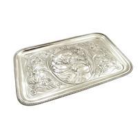Antique Art Nouveau Sterling Silver Dressing Tray 1906