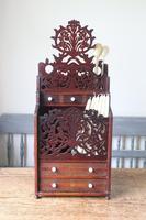 19th Century Scottish Vernacular 'folk Art' Thistle Fretwork Spoon & Candle Box (14 of 36)