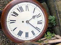 """Victorian Oak Cased 12"""" Dial Station Clock (5 of 8)"""