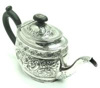 Antique Solid Silver Tea Pot Early Victorian Silver c.1849 (2 of 7)