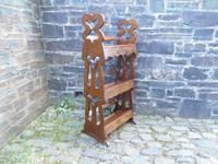 Arts & Crafts Carved Oak Book Rest (6 of 13)