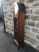 Antique Oak Triple Weight Granddaughter Clock (3 of 10)