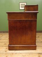 Antique Satin Birch Pedestal Desk by Heal & Sons (10 of 21)