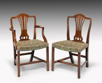 Attractive Set of 10 (8+2) Camel Backed Mahogany Framed Chairs (7 of 7)