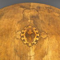 Antique Breakfast Table, English, Walnut, Mahogany, Tilt Top, Oval, Victorian (7 of 12)
