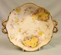 Pretty Antique Pottery Shaped Bowl (5 of 9)