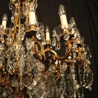 French 19th Century Bronze 24 Light Antique Chandelier (8 of 11)