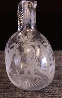Antique Victorian Etched Glass Decanter (5 of 7)