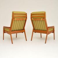 1960's Pair of Vintage Dutch Teak & Oak Armchairs (9 of 11)
