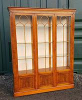 Reprodux bevan funnell yew wood display cabinet
