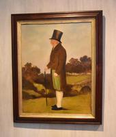 English Naive Oil  Painting of Gentleman (7 of 7)