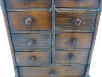 Antique Miniature Stained Pine Chest of Drawers (2 of 6)