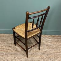 Set of Six Georgian Elm Country House Antique Dining Chairs (7 of 11)