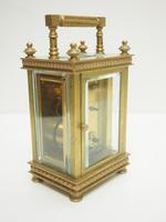 Antique French 8-day Carriage Clock Unusual Masked Dial Case with Enamel Dial (6 of 10)