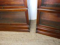 Pair of English Stamped Globe Wernicke Bookcases (2 of 9)