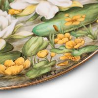 Antique Decorative Charger Plate, English, Ceramic, Dish, Art Nouveau, Victorian (10 of 12)