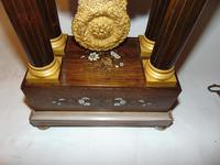 French Charles X Rosewood Portico Clock (6 of 9)