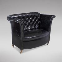 Lovely Black Leather Sofa (2 of 3)