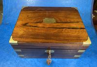 Victorian Brassbound Rosewood Writing Slope (4 of 20)