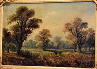 Victorian Oil Painting of Charlecote Park (6 of 9)