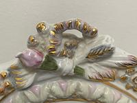 Pair of Small Dresden Victorian Style Porcelain Cherub Table Mirrors (18 of 60)