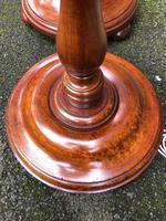Pair of Antique Mahogany Floor Standard Lamps (6 of 8)
