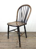 Set of Four 19th Century Ash and Elm Hoop Back Chairs (4 of 13)