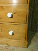 Victorian Stripped Pine Chest with 4 Drawers & White Porcelain Knobs (3 of 9)