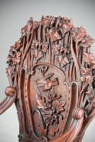 Large Japanese Carved Throne Chair (10 of 12)