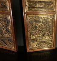Good looking decorative pair of oriental gilded wall hangings (7 of 8)