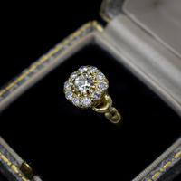 Antique Victorian Old Cut Diamond Cluster 18ct 18K Yellow Gold Ring 1.0ct total (8 of 9)
