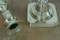 Pair of Quality Victorian Brass Candlesticks with Pushers c.1870 (4 of 7)