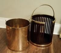 George III Mahogany & Brass Bound Plate Bucket (3 of 6)