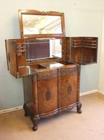 Antique Impressive Burr Oak Cocktail Drinks Cabinet (2 of 16)