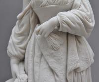19th Century Parian Figure of a Lady Leaning on a Column (6 of 7)