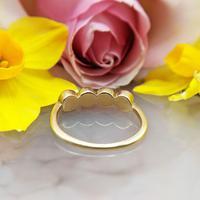Vintage 18ct Gold Four Garnet Crystal Ring (2 of 9)