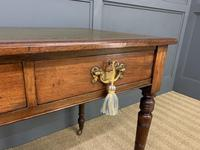 Victorian Walnut 2 Drawer Writing Table (11 of 15)