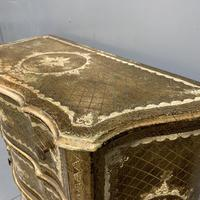 Italian Florentine Paint & Gilt Chest of Drawers (4 of 5)