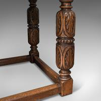 Antique Refectory Table, English, Oak, Dining, Jacobean Revival, Edwardian c.1910 (11 of 12)