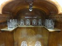 Super Quality Burr Walnut Cocktail Cabinet (7 of 12)