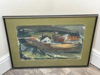 Scottish Mixed Media Painting Cottages in Ayrshire Signed Robert Sinclair Thomson 1915-1983 ARSA, RSW (5 of 27)