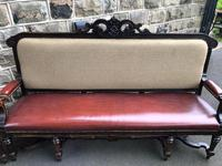 Matching Pair Antique Oak Benches (9 of 14)