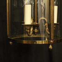 French Convex Gilded Triple Light Antique Lantern (7 of 10)
