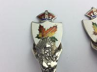"""Sterling Silver Canadian Servers """"Enamel"""" with Indian Motifs Available Worldwide (6 of 11)"""
