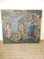 Scottish 1940s Wartime Oil Painting (6 of 7)